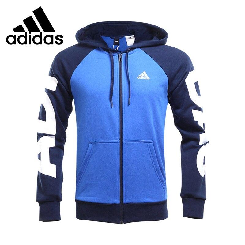 Original New Arrival Adidas JKT LIN FZ HDY Men's jacket Hooded Sportswear adidas new arrival 2017 original originals torsion fz men s jacket hooded sportswear bq3098 bq3099