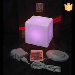 Украшения сада мебель дистанционное управление светодио дный светодиодное освещение куб стул D10cm с 24 клавиши Бесплатная доставка 4 шт./лот