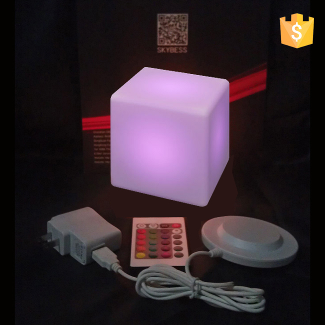 Garden Decoration furniture  Remote Control LED lighting Cube Stool D10cm  with 24 keys free shipping 4pcs/Lot