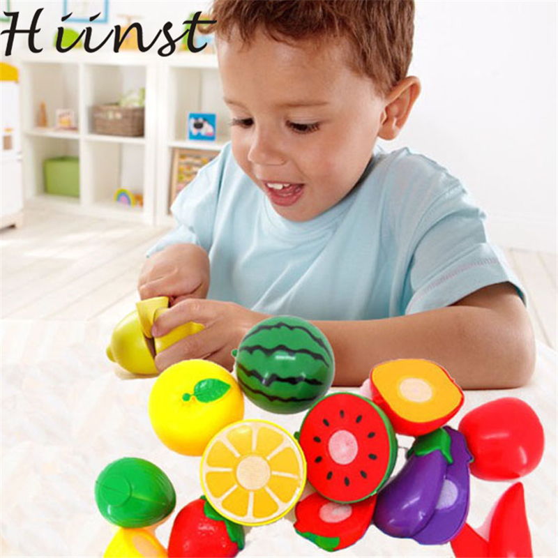 1 Set Cutting Fruit Vegetable Pretend Play Children Kid Educational Toy Drop Shipping Gift 17Aug14