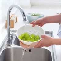New Arrive Multifunctional Plastic Double Layer Dry Fruit Containers Storage Box Garbage Holder Plate Dish Organizer
