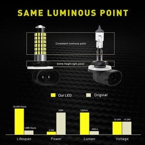 Image 3 - Katur 2pcs H27W/2 881 Led נורות ערפל אורות עבור מכוניות Led ערפל נהיגה מנורת גבוהה אורות רכב אור Sourse 6000K לבן H27W H27 Led