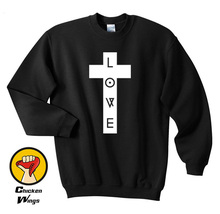 цены love cross printed religion print leopard swag vintage top Top Crewneck Sweatshirt Unisex More Colors XS - 2XL