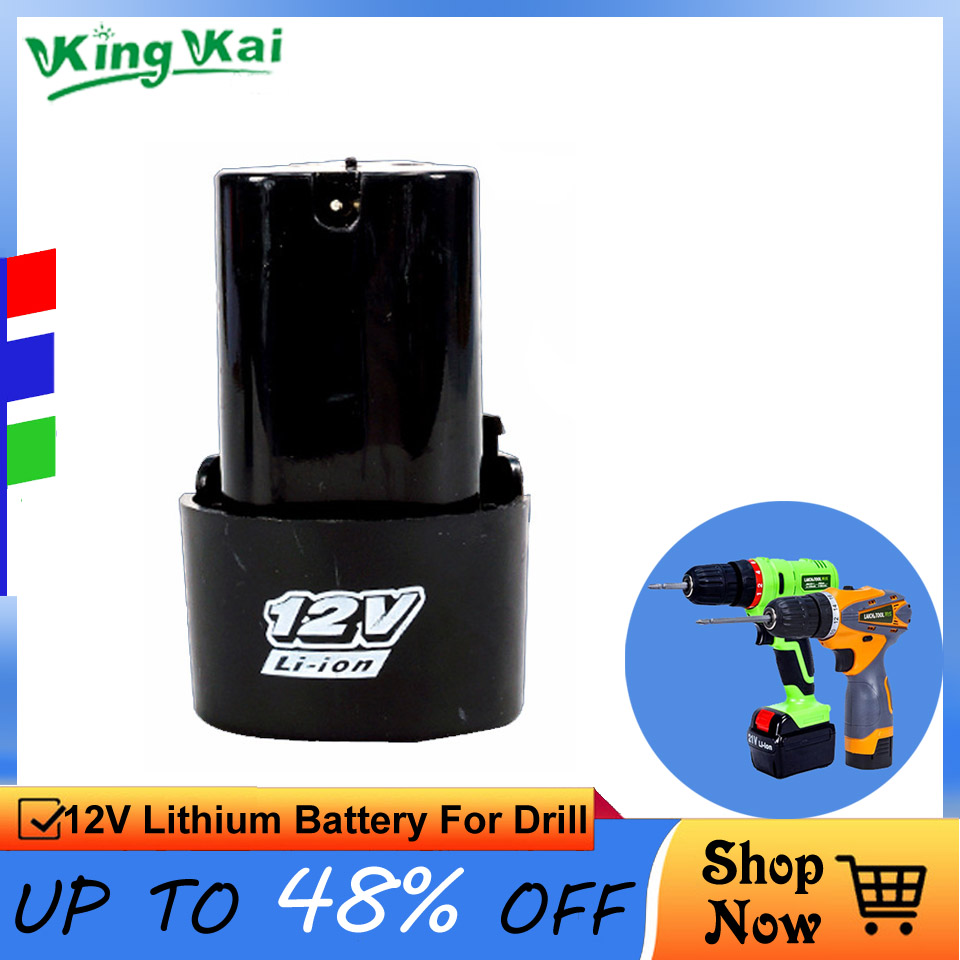 12V 16.8V 21V Cordless Rechargeable Lithium Battery For Electric Drill Screwdriver Power Tool Extra Lithium Battery