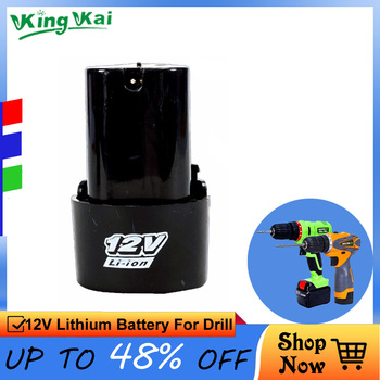 цена на 12V 16.8V 21V Cordless Rechargeable Lithium Battery For Electric Drill Screwdriver Power Tool Extra Lithium Battery
