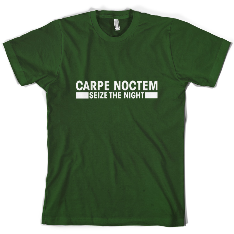 Carpe Noctem Seize the Night Mens T Shirt 10 Colours Free UK delivery Print T Shirt Mens free shipping in T Shirts from Men 39 s Clothing