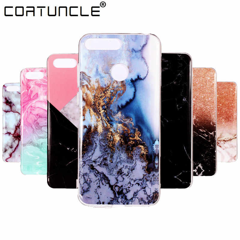 honor 7C Case on For Coque Huawei honor 7C AUM-L41 case 5.7 inch Marble Stone Soft TPU Back Cover For Huawei Honor 7C Phone Case