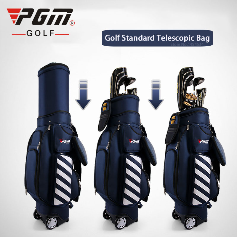PGM New Golf Bag Standard Telescopic Wheel Bag 125cmTravel Play Multifunctional Air Aviation Thermostatic Bag With Password Lock