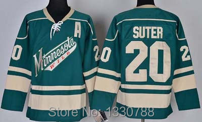 100% authentic f00ed f3fac minnesota wild 20 ryan suter red jersey