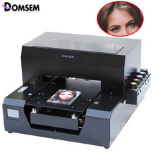 Domsem Digital Flatbed UV Printer Kain T Shirt Printer 6 Warna A3 Ukuran T-Shirt Direct To Garment Mesin Cetak(China)