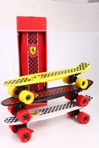 Image 5 - Niño de cuatro rueda doble Cruiser Skateboard flip skate board para niños niño Max de carga 50kg
