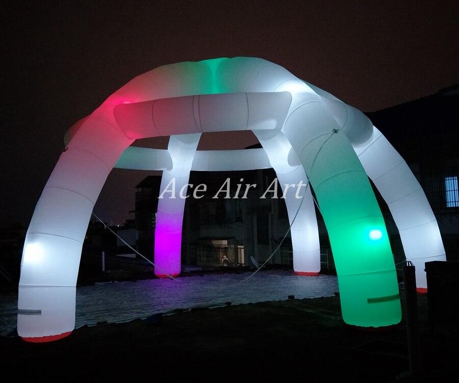Tente gonflable de dôme d'araignée de LED de partie gonflable d'éclairage bon marché pour la décoration