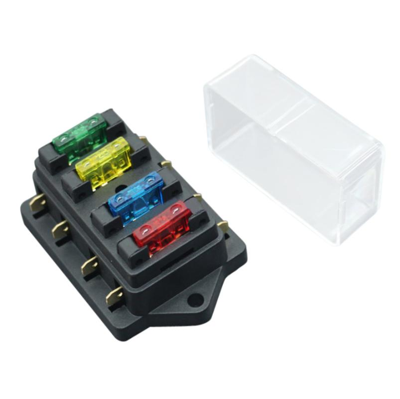 car vehicle fuse box circuit blade block 4 way fuse holder box 3a car vehicle fuse box circuit blade block 4 way fuse holder box 3a 5a