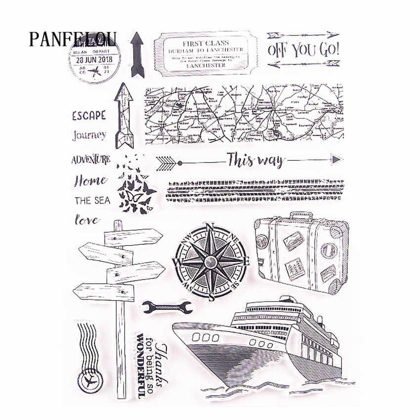Panfelou Di Seluruh Dunia Transparan Bening Silikon Cap/Seal Diy Scrapbooking/Photo Album Dekoratif Clear Stamp Lembar