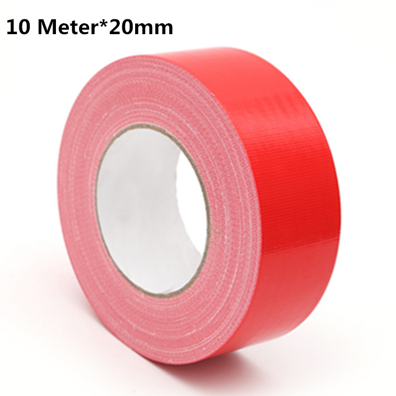 Cloth Tape Carpet Floor Tape Diy decoration Red Strong Waterproof Vigorously Color Duct tape 10M*20mm Stage Carpet Tape