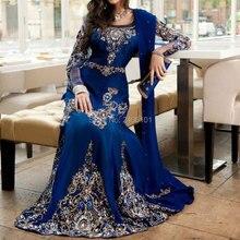Vestido de festa длинное вечернее платье с рукавами Саудовская Аравия роскошный кристалл из бисера Свадебное платье