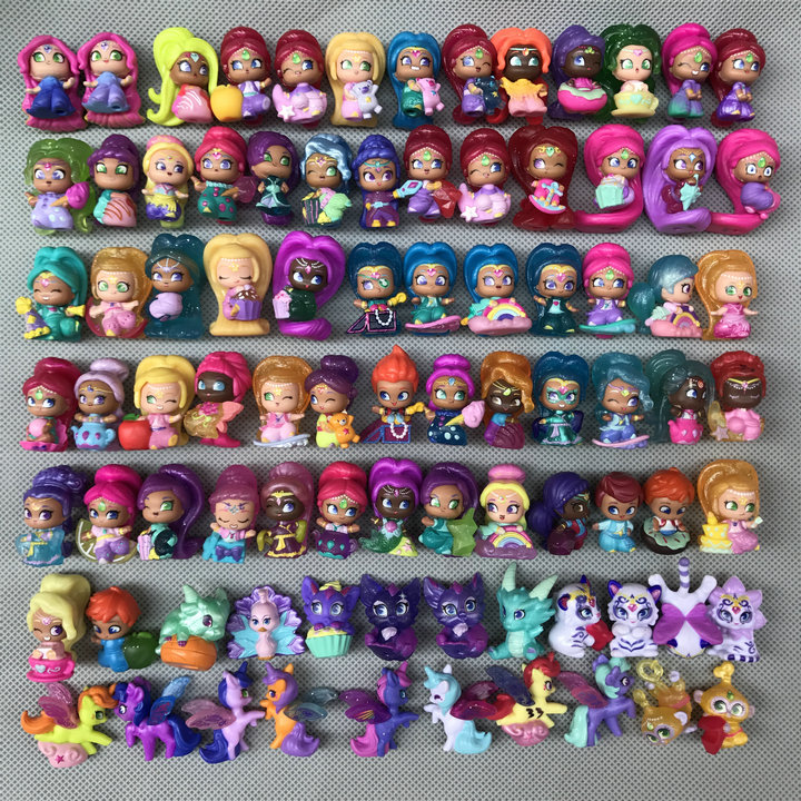 10pcs/lot Random Send Shimmer Shine Sister Cute Dolls Shine Girl Action Figures Samira Toy For Kids