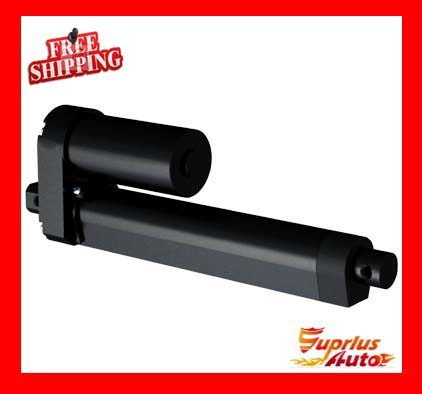 Free Shipping 9 / 225mm Travel Linear Actuator, Load 3500N / 350KGS 12 / 24V Black Heavy Duty DC Electric Actuator