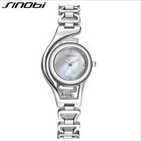 SINOBI New Fashion Bracelet Watch Women Luxury Diamond Stainless Steel Wrist Watches Ladies Watch Clock Saat