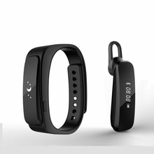 "Inteligente Talk Band pulsera Bluetooth 4.0 diario impermeable 0.91 "" pantalla OLED táctil auricular Smartband para IOS Android Smartphone"
