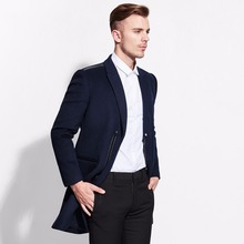 brand 50% wool single breasted suit jacket men blazers and jackets 2016 formal costumes business slim suits blazers casual black