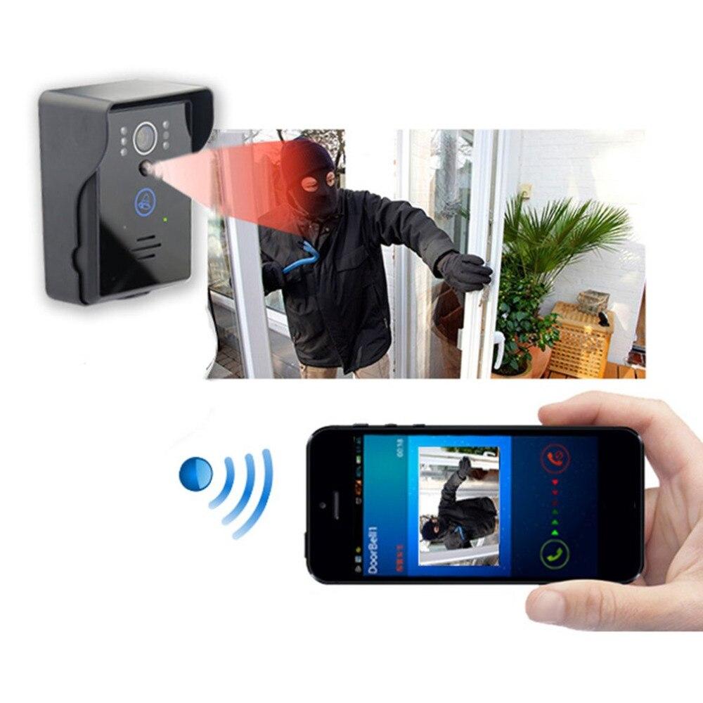 Wifi connexion Sans Fil Sonnette UE plug Alarme Porte téléphone Vidéo-eye IR Nuit Vision Visuelle Super de Vision Large 2018 nouvelle Arrivée