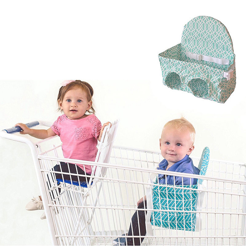 Foldable Baby Shopping Cart Cushion Toddler Trolley Pad Baby Shopping Push