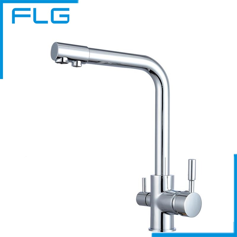 Kitchen Faucet Mixer Chrome Drinking Water Filter Tap with Filtered/purified Water Spout torneira cozinha free shipping soild brass lead free kitchen faucet mixer drinking water filter tap with filtered purified water spout wholesale