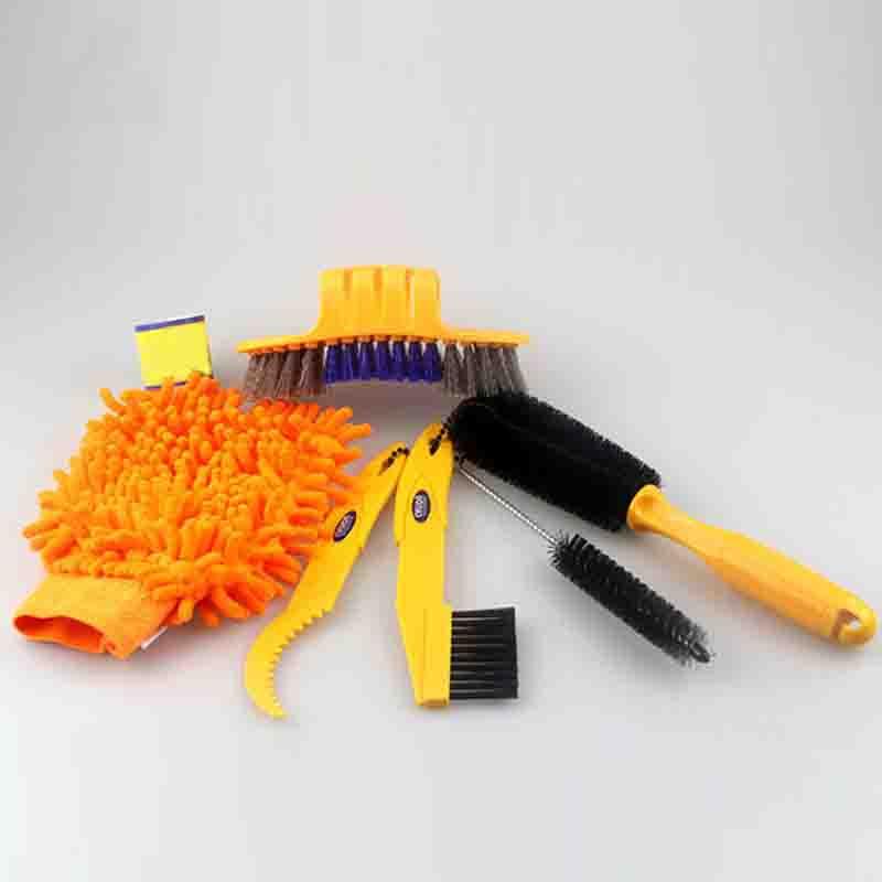 Bike Chain Cleaner Cycling Clean Tire Brushes Tool Kits MTB Bike Cleaning font b gloves b