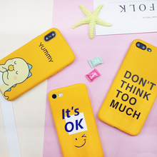 Yellow Cute Phone Capa Phone For iPhone 6 7 8 Plus 5S SE Case Black Cartoon Animal Silicone For iPhone X XR XS MAX Pattern Cover animal series cute dog style phone case cover for iphone 4 4s brown black