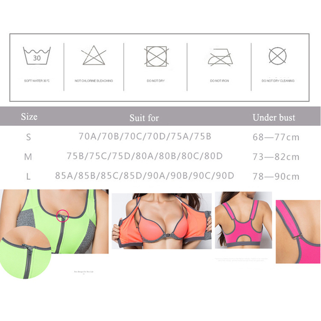 Double Layer Zipper High Padded Sports Bra