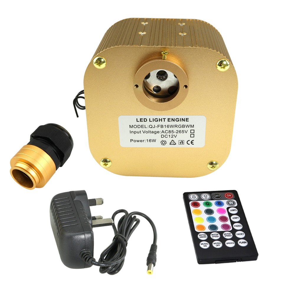 16W Twinkle RGBW LED Fiber Optic Light engine with Music Mode Remote Controller  for Fiber Optic Starry Sky Effect16W Twinkle RGBW LED Fiber Optic Light engine with Music Mode Remote Controller  for Fiber Optic Starry Sky Effect