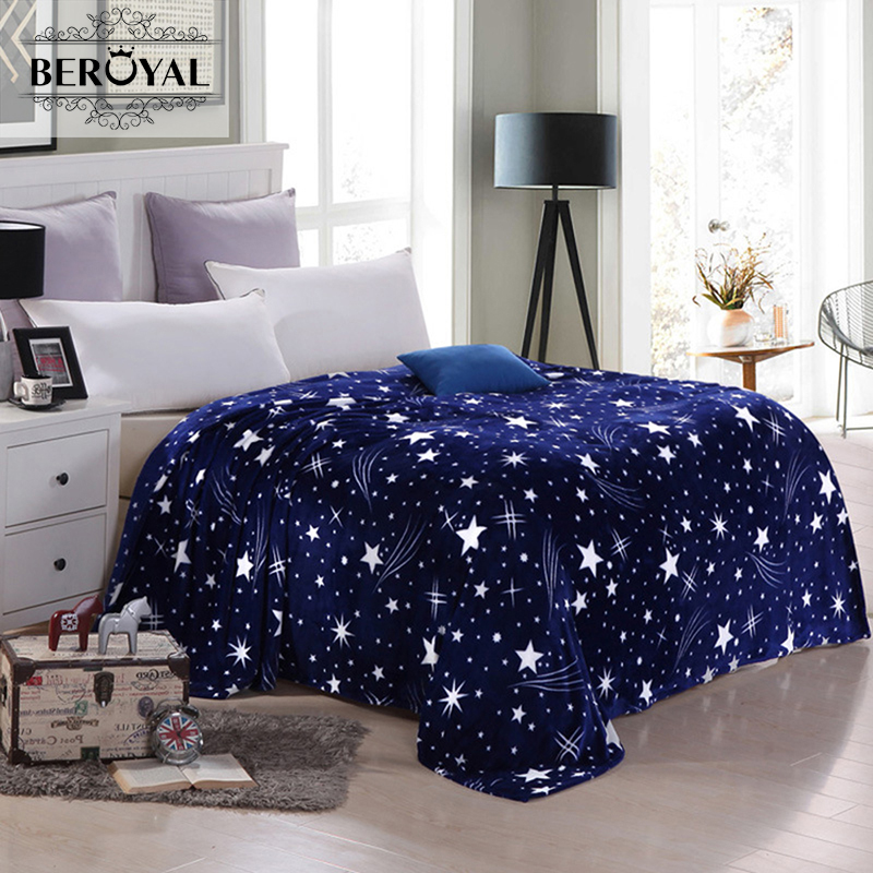 Dream star space style coral flannel fleece blankets soft for Space flannel