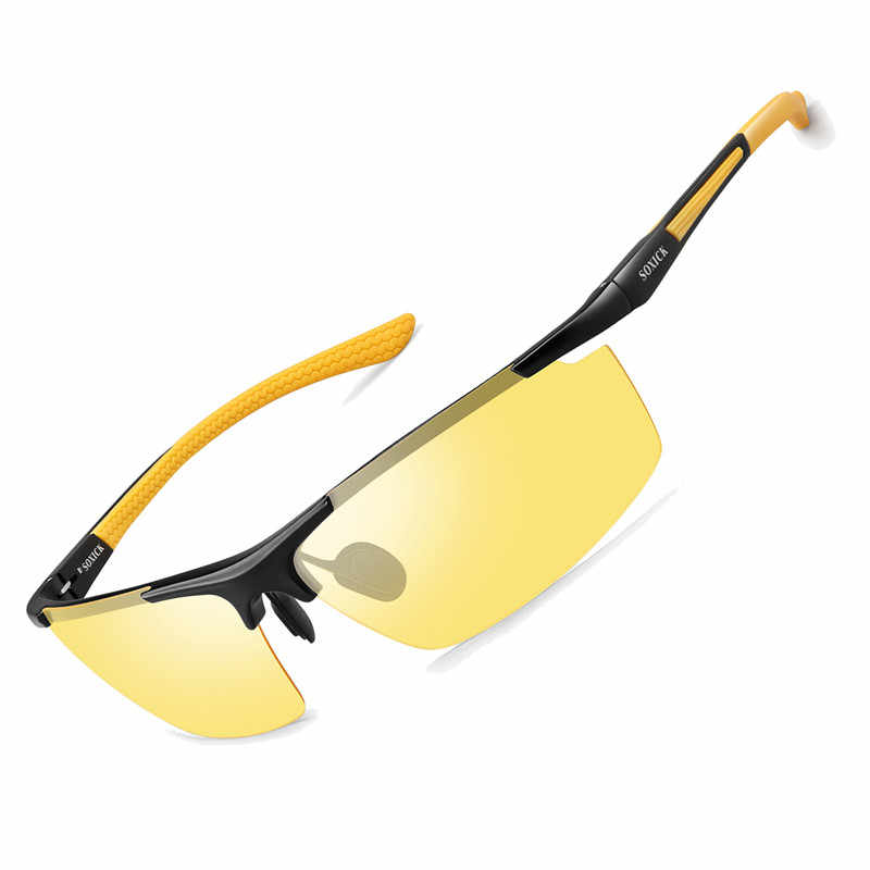 42c913c664 ... SOXICK Brand HD Anti Glare Night Driving Sunglasses Polarized Night  Vision Sun Glasses for Cloudy Rain ...