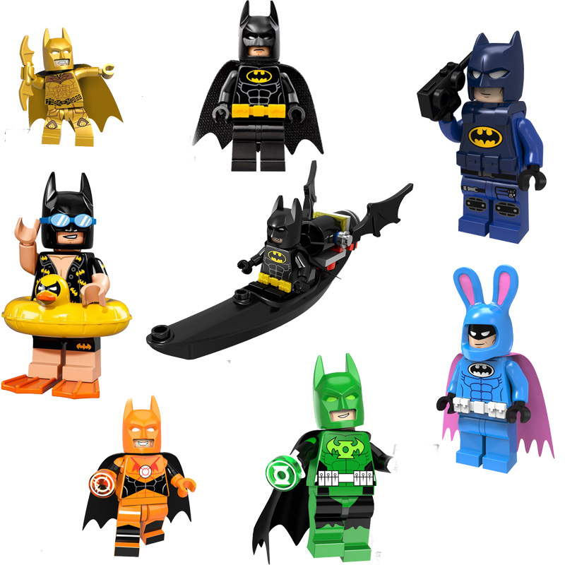 Single Super Heroes Batman Legoings Knightmare Red Son Batman Robin Punisher Figures Building Blocks Kits Toys for Children