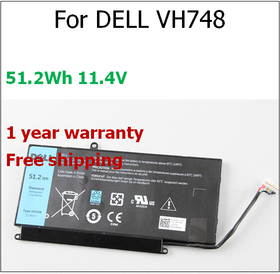 51.2wh 11.4V Laptop Battery for Dell VH748 V5460D for Vostro 5560 5470 for Inspiron 14 5439 V5460D-1308 V5460D-1318 5470D-1328