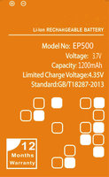 1200mAh EP500 Battery For Sony Ericsson Xperia ST17I ST15I SK17I WT18I X8 U5I E15i Wt18i Wt19i