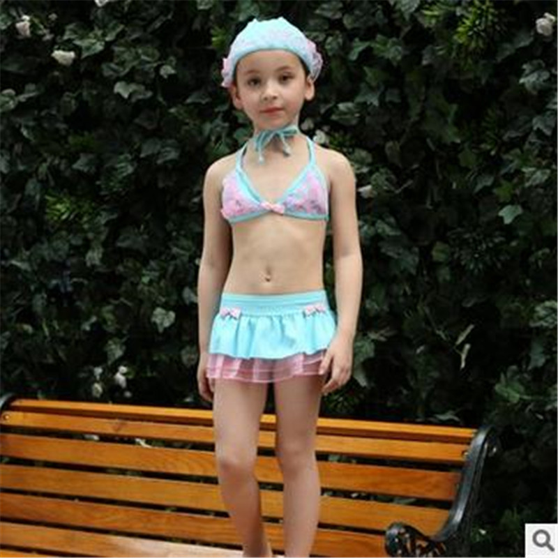 2016 New 2 6y Kids Bikini Set For Girls Swimwear Skirt Bathing