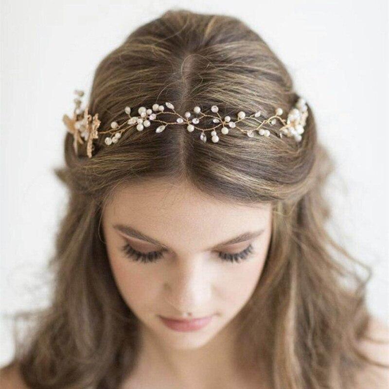 M Mism High Quality European Alloy Headband Pearl Crystal Handmade Bridal Tiara Wedding Bridesmaid Hair Accessories Hair Band Hair Jewelry Aliexpress