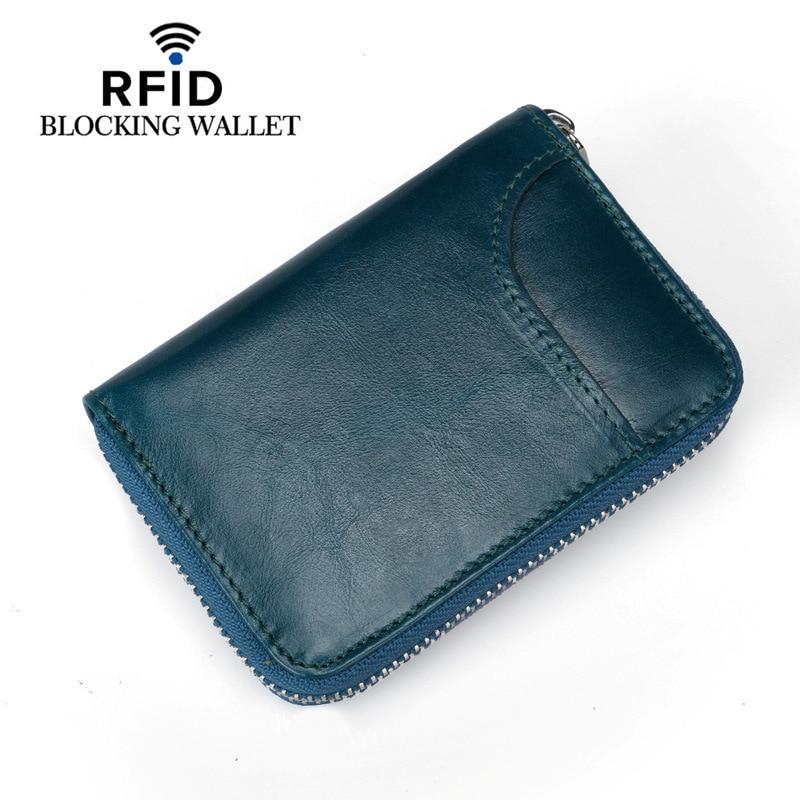 Card Holder Wallet RFID Blockering Kort Äkta Läder Kreditkort - Plånböcker - Foto 3