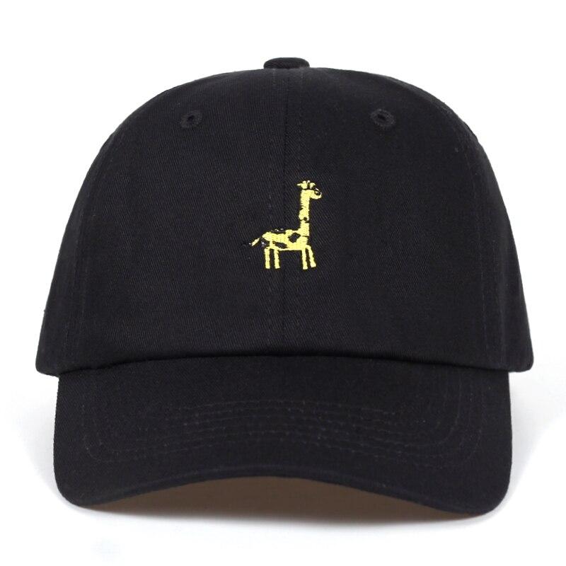 Кепка с вышивкой в виде жирафа для мужчин и женщин, регулируемая бейсболка из хлопка, в стиле хип-хоп, летняя