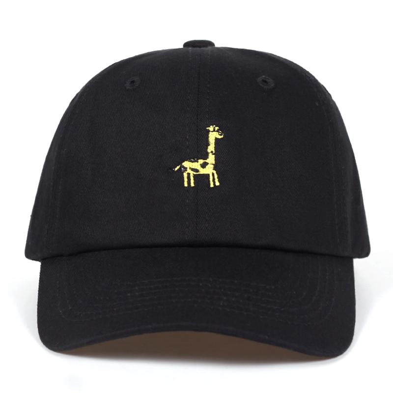 new Cartoon giraffe Cotton Embroidery Baseball cap men women Summer lovely adjustable Dad hat Hip-hop caps Bone Garros