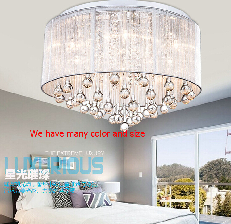 Contemporary Lustre Crystal Ceiling Chandelier Lights Black Fixture abajur Home Crystal Plafon Light Lamp Lighting E14 Led bulb