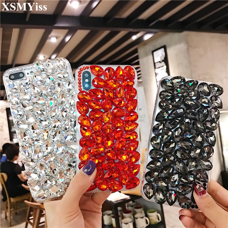 Cellphones & Telecommunications Temperate Xsmyiss For Samsung S5 S6 S7 Edge S8 S9 Plus Note 3 4 5 8 Girls Rhinestone Diamond Bling Liquid Sand Quicksand Soft Phone Case Rhinestone Cases