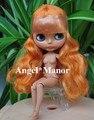 Блит кукла с объединенная тела, Оранжевый длинные волосы, Темной кожей, День святого валентина подарок, Ght003