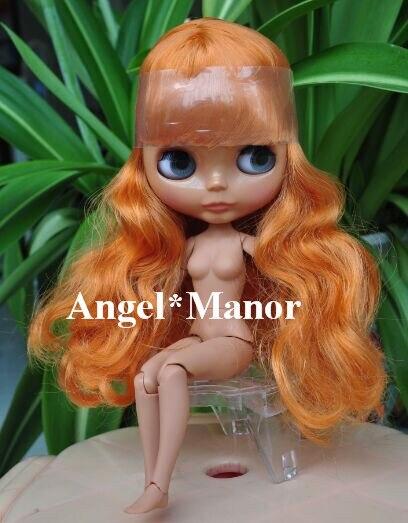 blyth font b doll b font with jointed body orange long hair dark skin Valentine s