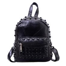 Mode Leder Rucksack Frauen Reisetasche Umhängetasche Niet Rucksack Schultasche für Jugendliche Mochila Feminina 1STL