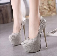 New 16 CM High Heels Fashion Nightclub High Heels Snake Sexy Stiletto Shoes