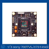 Free Shipping Latest 1 3 Sony 700TVL 4140 673 Effio E CCD CCTV Board Camera OSD