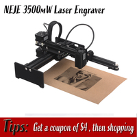 New NEJE 405NM 3500mw Professional Automatic DIY Desktop Mini CNC Laser Engraver Cutter Engraving Wood Cutting Machine Router